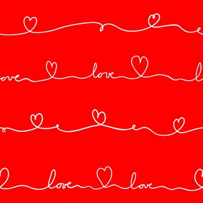 love doodle red white doodle