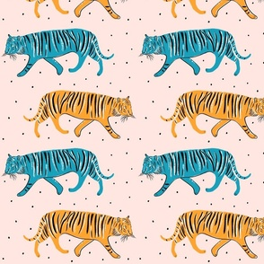 Pop Tigers with dots