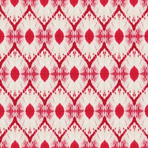 Shibori diamond in candy red