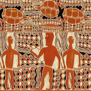 Aborigine Tribal Folk Art Wallpaper