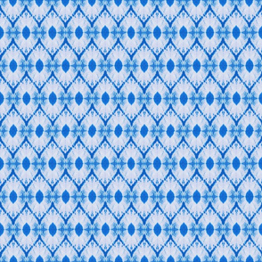 Shibori diamond in azure