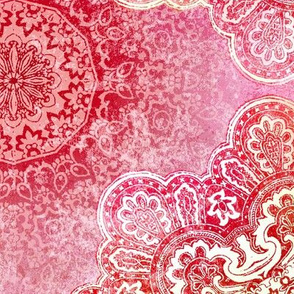 pink paisley mandala