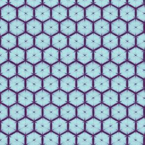 Shibori honeycomb sky