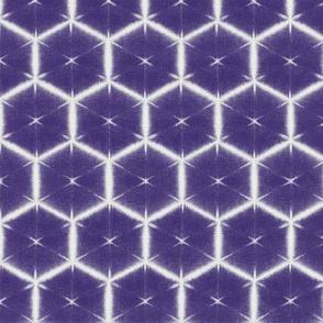 Shibori honeycomb in dark purple