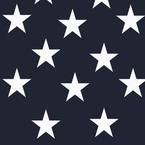 White Stars on Navy blue