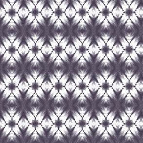 Shibori kaleidoscope in black and white