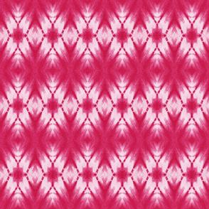 Shibori large kaleidoscope in raspberry