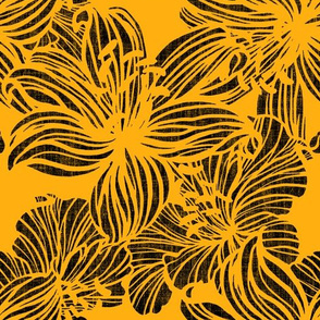 sunny graphic tropical floral
