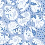 Botanical Eggs (blue)