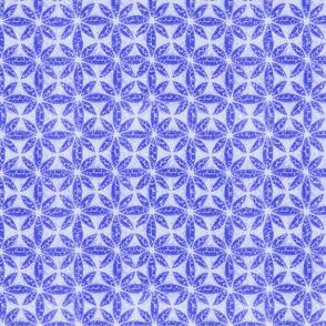 Shibori soft star in perwinckel