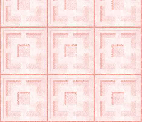 breezeblock coral fabric by booboo_collective on Spoonflower - custom fabric