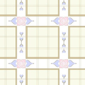 Pale Plaid of Roses