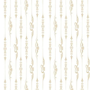 Neo-Edwardian Pinstripe on White