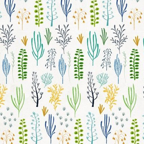 Floral dino {blue and green}