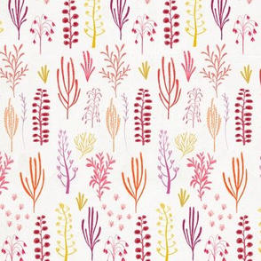 Floral dino {red and purple}