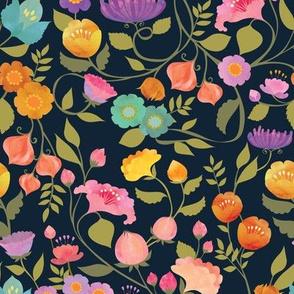 Enchanted Garden {Midnight} - medium scale