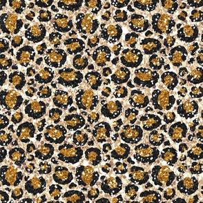 Leopard Cheetah Glitter Black/Caramel/Gold