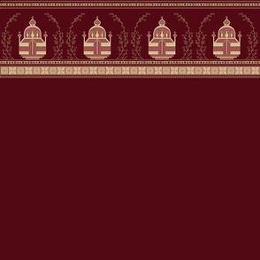 Pysanky Chapels (Maroon Trim)