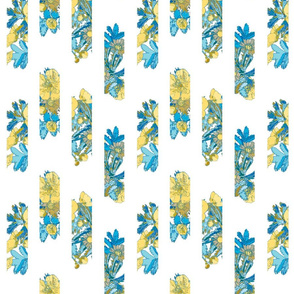 leaf bouquet scattered blue-cream