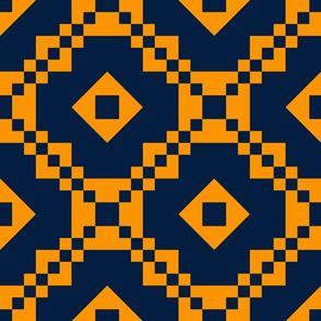 Dream Paths-Cheddar Orange and Union Blue
