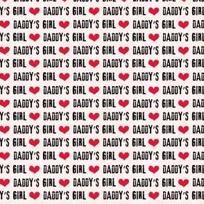 (micro scale) Daddy's Girl - valentines day fabric - pink - C19BS
