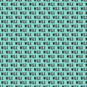 (micro scale) WILD- Coordinate to Little Man / Adventure - Wild - black and teal C19BS