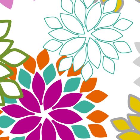 Chrysanthemums - 7 fabric by lulularch on Spoonflower - custom fabric