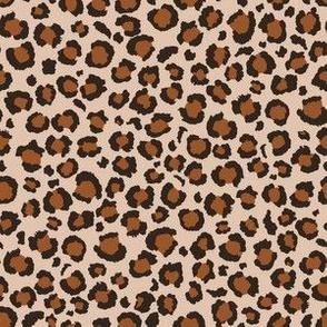 Tawny Brown Leopard Print | Leopard Spots | Animal Print