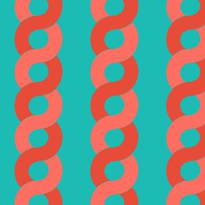 Aquatic  Chain Aqua Coral