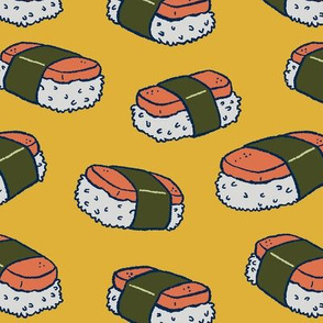 Spam Musubi on Yellow