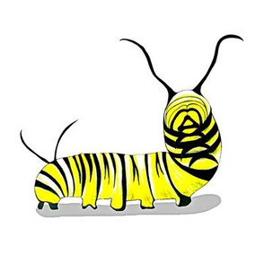 "Monarch Caterpillar 8"" Toy"