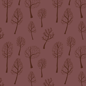 Bare Trees - Red