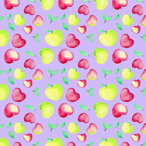 Purple background apples