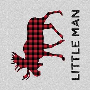 """27"""" Fat Quarter Minky - 54"""" Minky Yard - Little Man - Moose C19BS"""