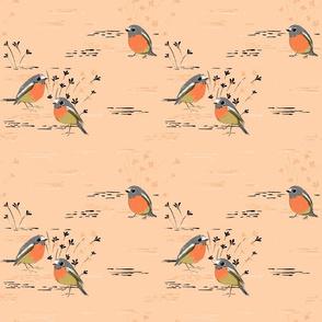 Peach Robins