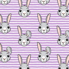 """(1.75"""" scale) easter bunny - purple stripes - bunnies LAD19BS"""