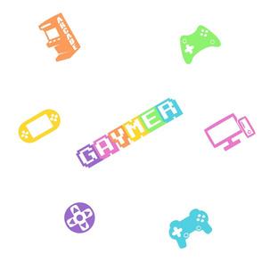 Gaymer Gay Gamer Video Game Repeating Rainbow Pattern