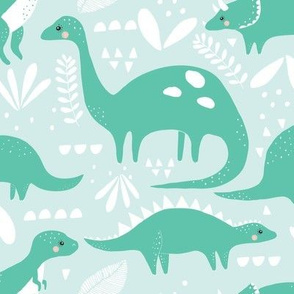 colorful dinosaurs // mint and spearmint
