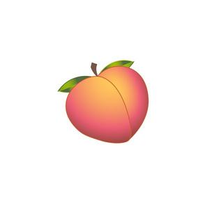 Repeating Peach Emoji Pattern