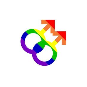 Rainbow Gay Male Pride Repeating Pattern