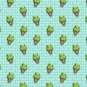 (micro scale) Tyrannosaurus rex  - RAWR teal 2- dinosaur trex LAD19BS