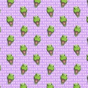 (micro scale) Tyrannosaurus rex  - RAWR purple 2- dinosaur trex LAD19BS