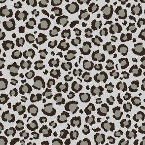 Leopard Print in Dark Grey | Leopard dots spots
