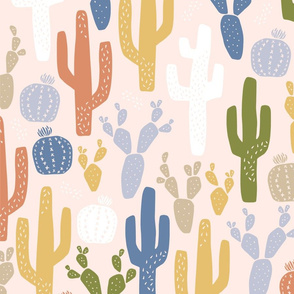 Cacti Clusters in Earth Tones