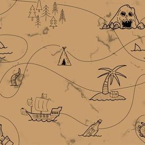 Ruined treasure map