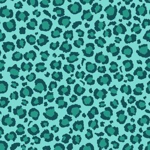 Leopard Print in Ocean Lagoon Blue | Leopard Spots | Animal Print
