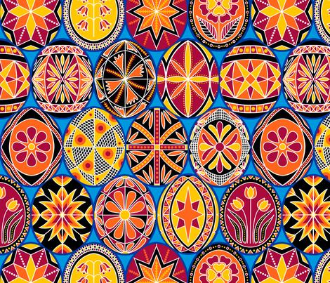 Splendid Pysanky fabric by willowbirdstudio on Spoonflower - custom fabric