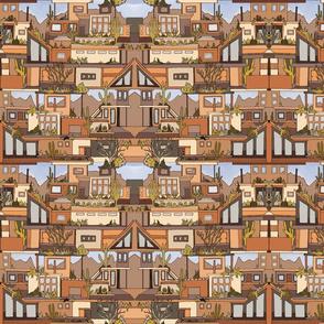 Desert Modern Architecture - Red Rocks and Golden Hues