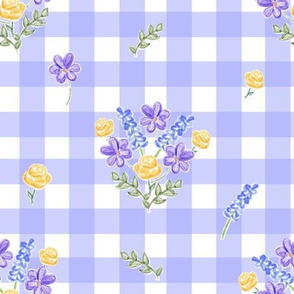 Spring Picnic Bouquets - Provence Blue