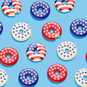 Stars and Stripes - Flag Donuts - Blue LAD19